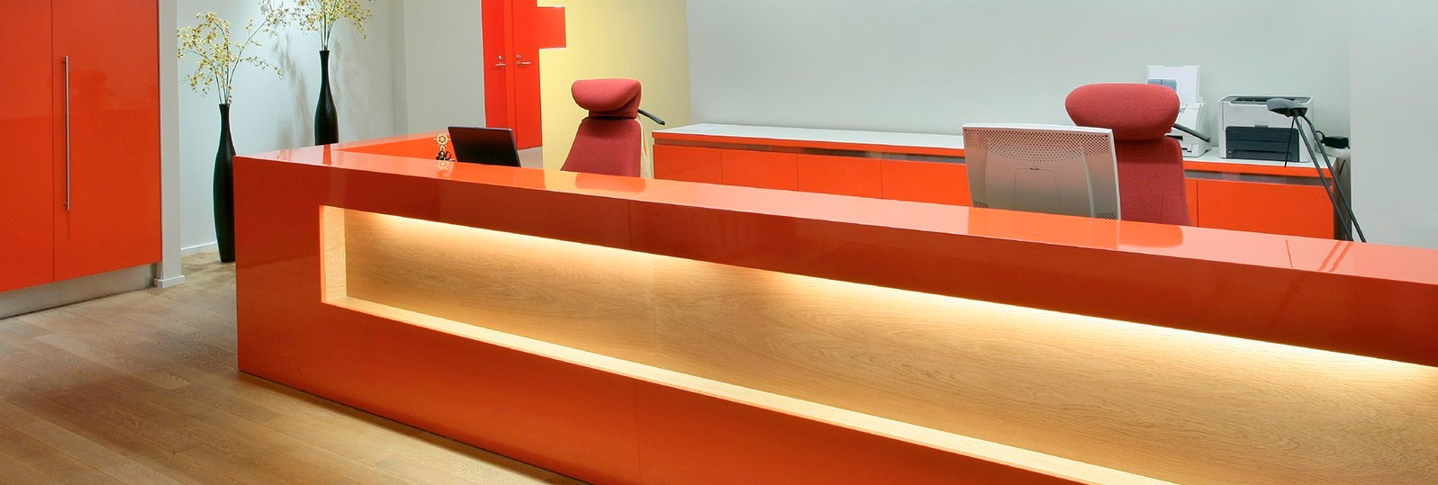 reception corian design
