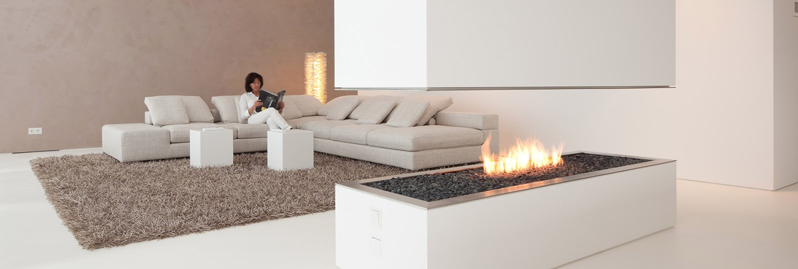 hi-macs white fire surround and coffee tables furniture