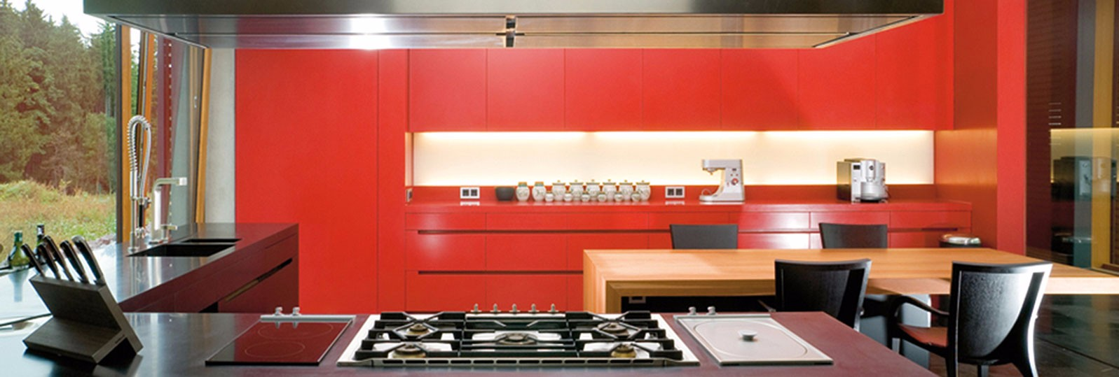 black-and-red-kitchen